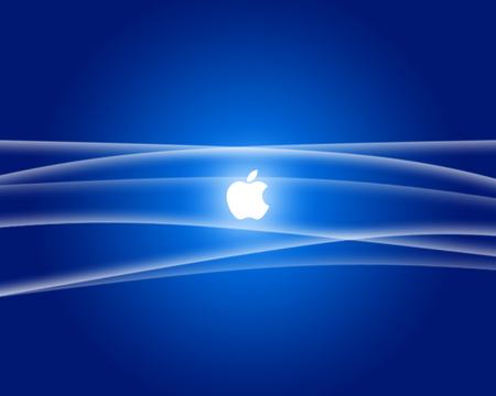 holy blue light - apple, blue, light, mac, silver, system, technology