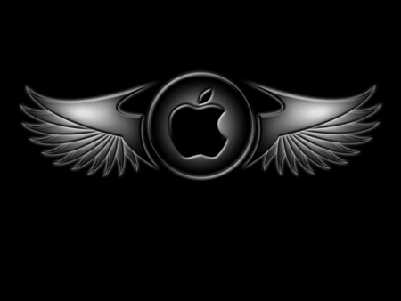 Black Wings Apple - Apple, Black, Computer, Laptop, Technology, Wings