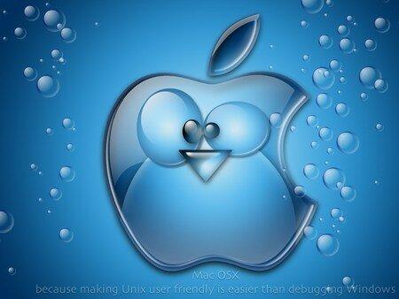 Mac OSX Aqua - Aqua, Mac, OS X, OSX, penguin, tux