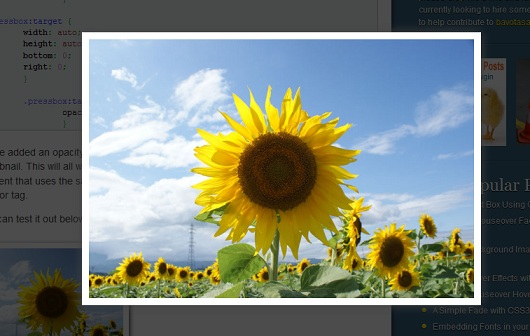 Using :target to Create a Lightbox Effect with CSS3