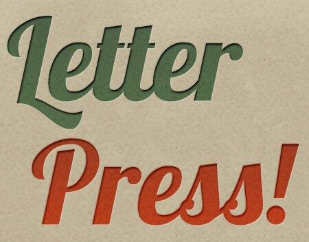 7 Useful Photoshop Letterpress TutorialsDesign Freebies