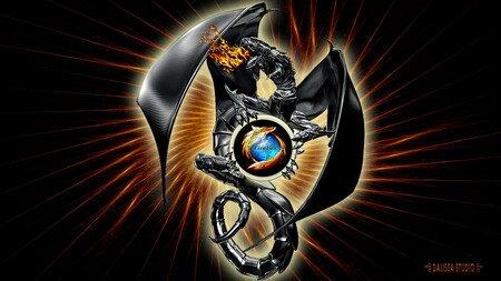 FIREFOX DRAGON - computer, dalissa, dragon, firefox, internet, web