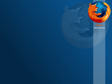 Firefox Take Back The Web - blue, firefox
