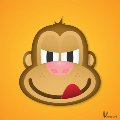 Create-face-greedy-monkey-character-illustration-tutorials