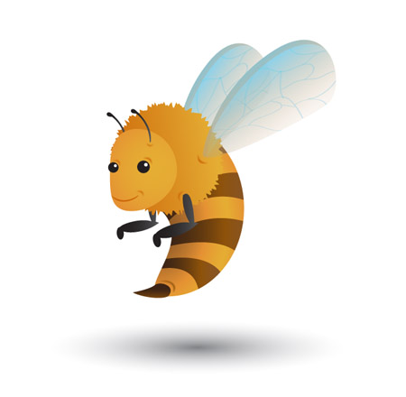 Draw-funny-bee-character-illustration-tutorials
