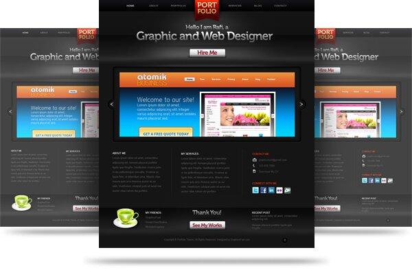 14 Best Free Portfolio In Psd Design Freebies