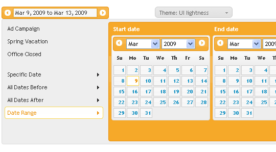 24 Cool jQuery Calendars – Design Freebies