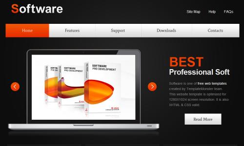 softwaren 50 Free jQuery Website Html Templates