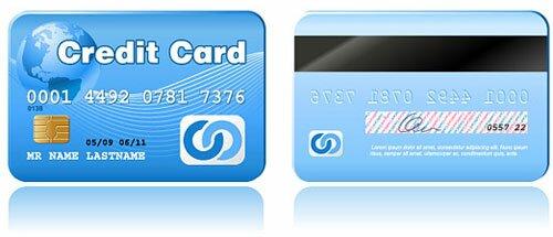 Free Credit Card PSD Templates Icons Design Freebies - Visa credit card template