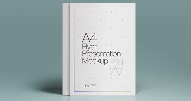 A4 Psd Flyer Mock-Up