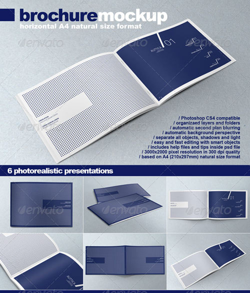 horizontal brochure template - 20 free premium brochure template and mockup design