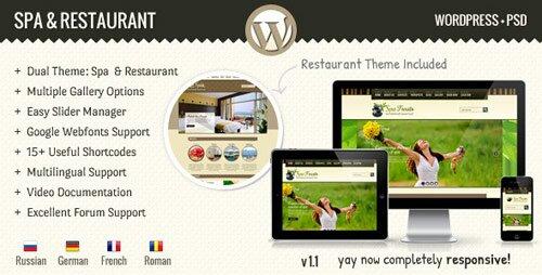 Popular premium restaurant wordpress themes design