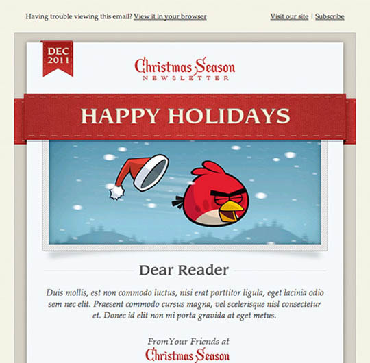 8 best christmas email templates design freebies christmas e mail template pronofoot35fo Choice Image