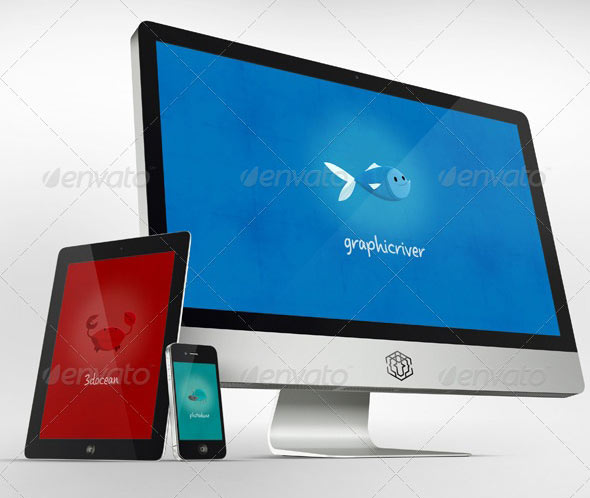 22 psd mockup for responsive design & app – design freebies, Powerpoint templates