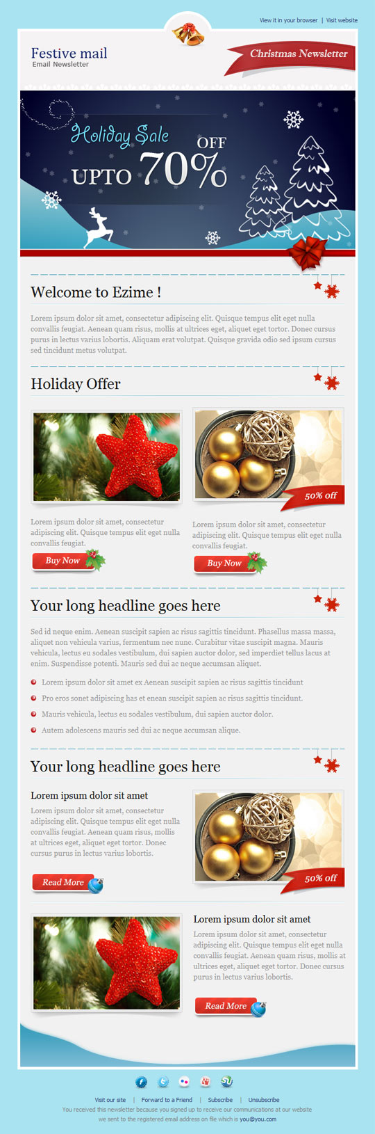 8 Best Christmas Email Templates – Design Freebies