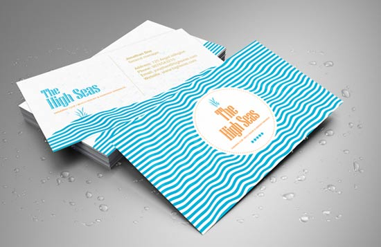 16 creative hotel business cards design freebies hotel beach resort swimming club business card colourmoves Images