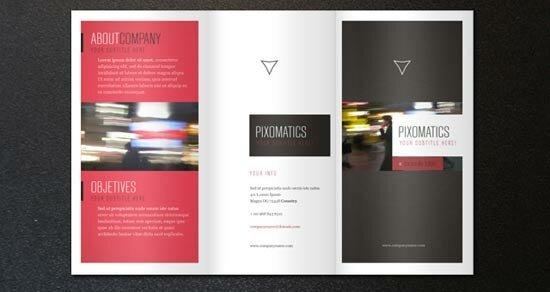 two fold brochure template - 6 free trifold brochure templates design freebies