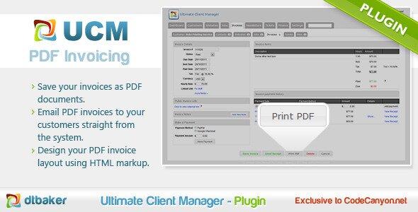 ucm plugin pdf invoicing