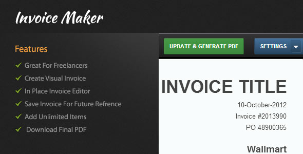 10 best php invoice makers – design freebies, Invoice examples