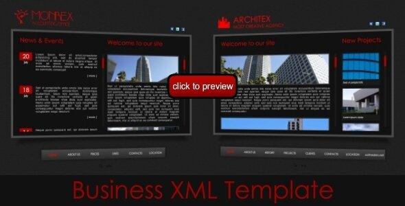 10 Useful Xml Flash Business/Coporate Templates – Design Freebies