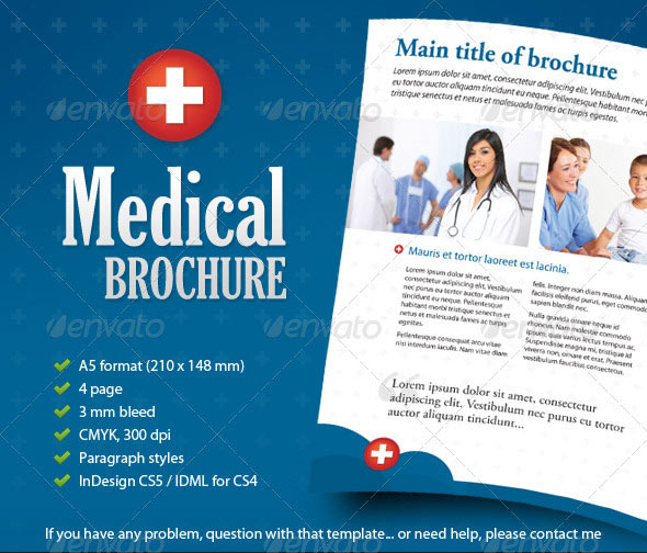 12 free premium medical brochure templates design freebies for Health pamphlet template