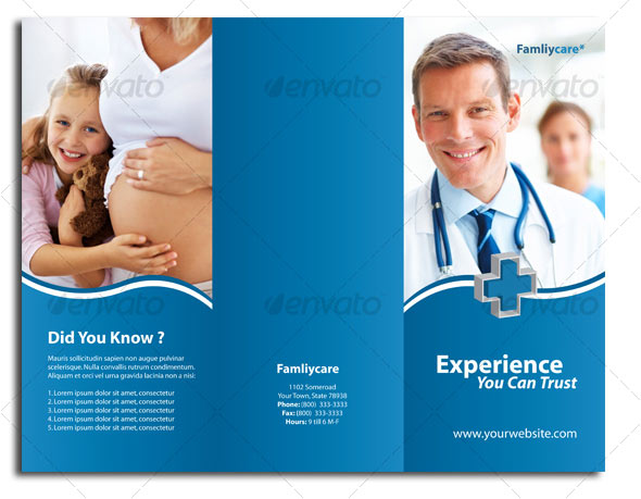 12 Free Premium Medical Brochure Templates Design Freebies – Hospital Flyer Template