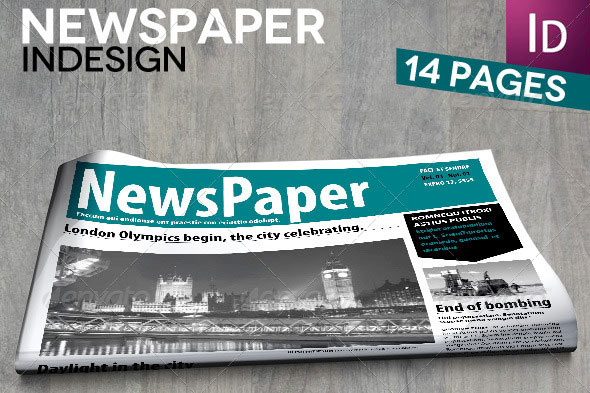 InDesign Newspaper 14 Pages Newspapers