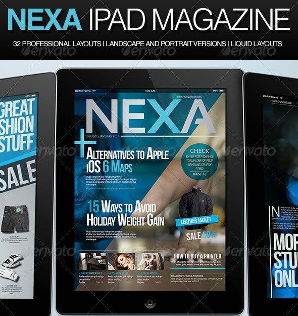 20 best magazine templates psd indesign design freebies nexa ipad magazine pronofoot35fo Gallery