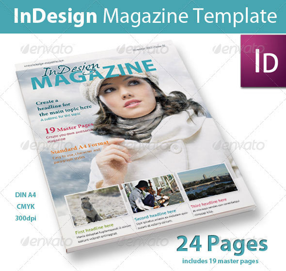 Free Indesign Magazine Templates: 20 Best Magazine Templates (PSD & InDesign)