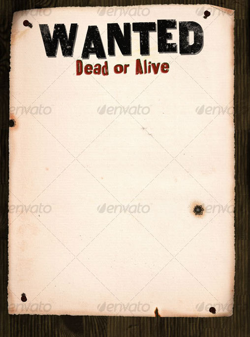 graphic relating to Printable Wanted Poster referred to as 22 Absolutely free Quality Ideal Poster Templates (PSD) Layout