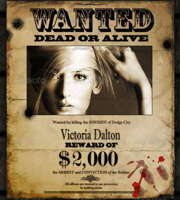 22 Free & Premium Wanted Poster Templates (PSD) – Design Freebies