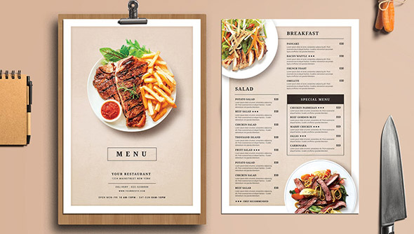 23 Creative Restaurant Menu Templates (PSD & InDesign) – Design Freebies