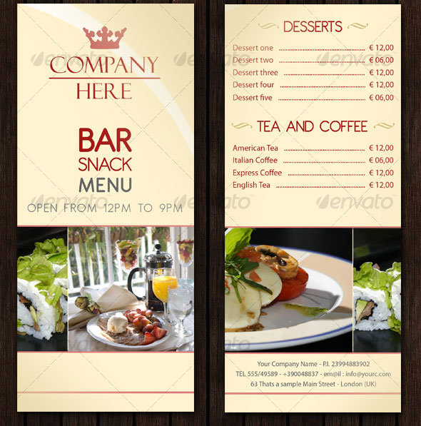 23 creative restaurant menu templates psd indesign design freebies for Restaurant menu psd