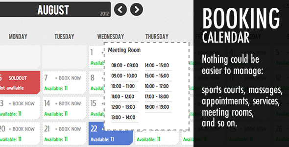 Calendar Booking System Php : Best booking rental system php scripts design freebies