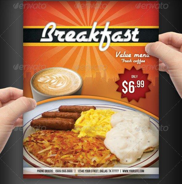 breakfast menu templates .