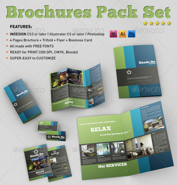Beautiful Spa Brochure Templates Design Freebies - Tri fold business card template