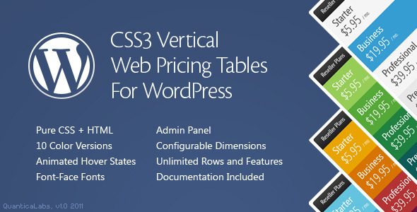 13 useful wordpress plugins for pricing table design for Html vertical table