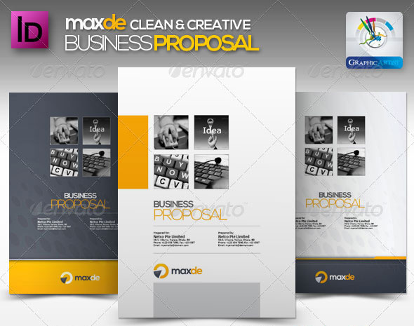 47 best proposal templates design freebies maxde clean business proposal wajeb Images