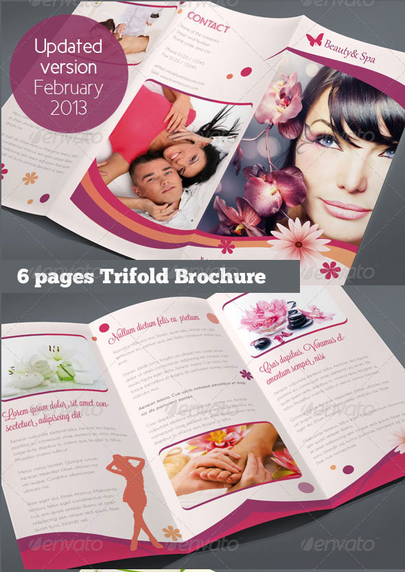 Beautiful Spa Brochure Templates Design Freebies - Beautiful brochure templates
