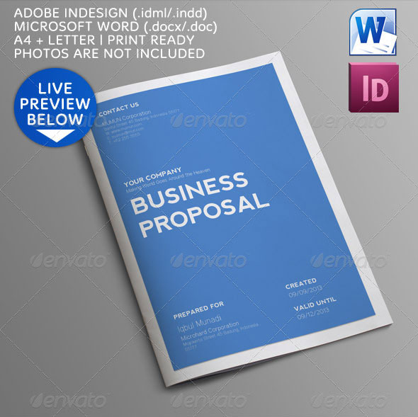 16 Best Proposal Templates Design Freebies – Proposal Word Template