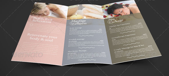 Beautiful Spa Brochure Templates Design Freebies - Spa brochure templates