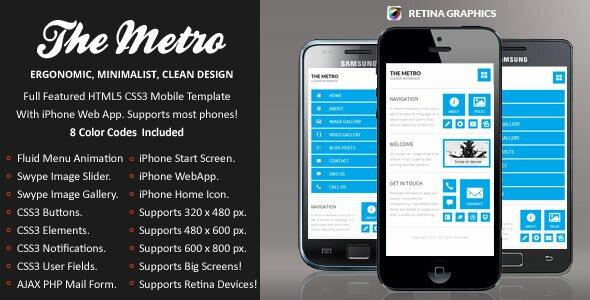 19 best mobile website templates design freebies