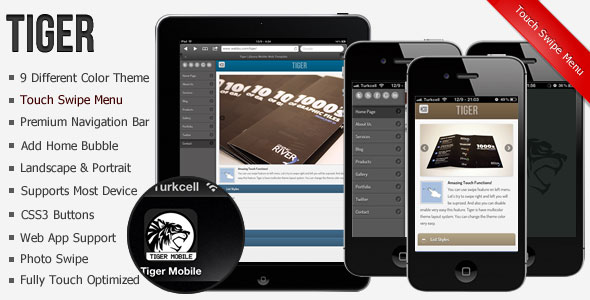19 best mobile website templates design freebies for Jquerymobile template