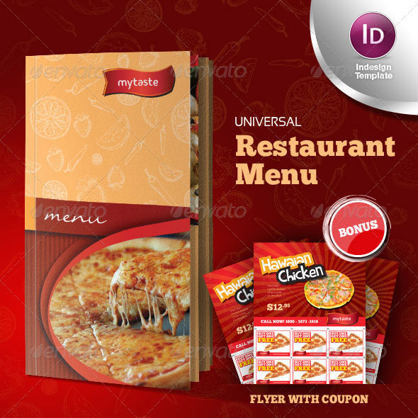 23 creative restaurant menu templates psd indesign design freebies. Black Bedroom Furniture Sets. Home Design Ideas