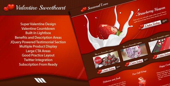 7 Best Valentines Day Newsletters Landing Page Design Freebies
