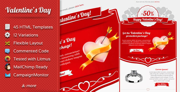 7 Best Valentines Day Newsletters & Landing Page – Design Freebies