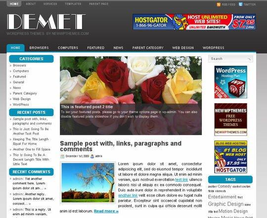 3 Column WordPress Themes 19 Beautiful 3 Column WordPress Themes – Design Freebies