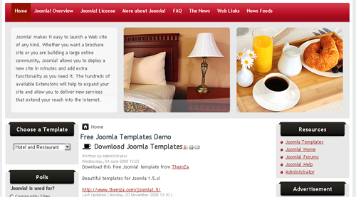 Free Joomla Restaurant Template