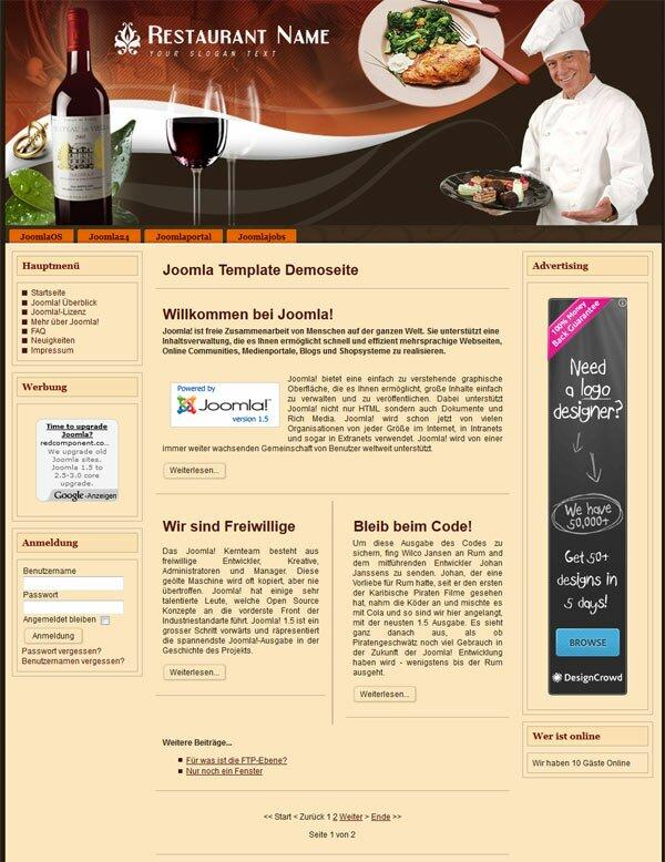 Joomla-Template-Demoseite