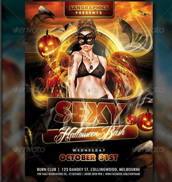 18 beautiful halloween flyer psd templates  u2013 design freebies
